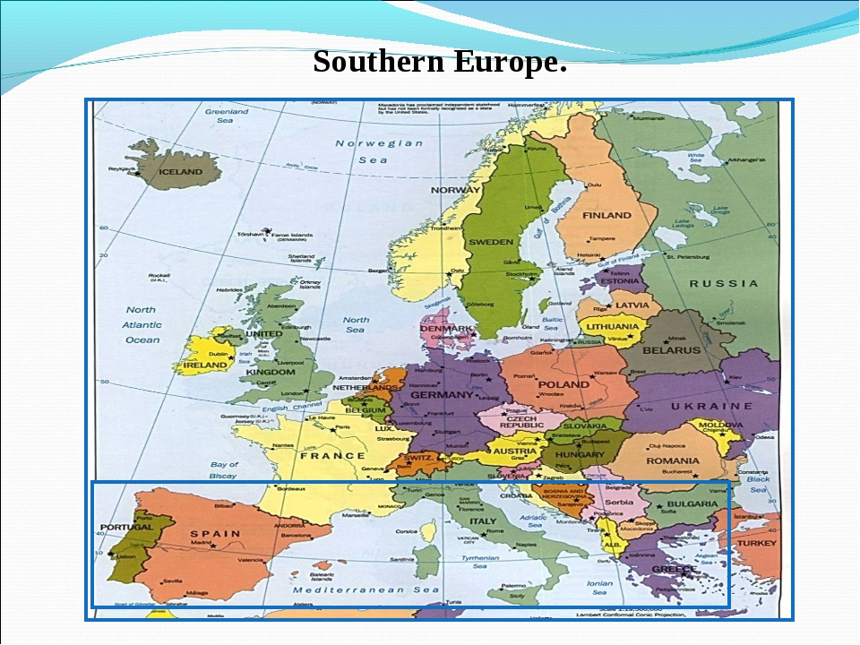 Southern Europe.