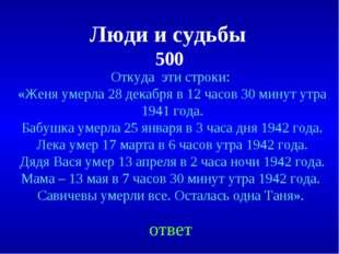 Люди и судьбы 500 Откуда эти строки: «Женя умерла 28 декабря в 12 часов 30 ми