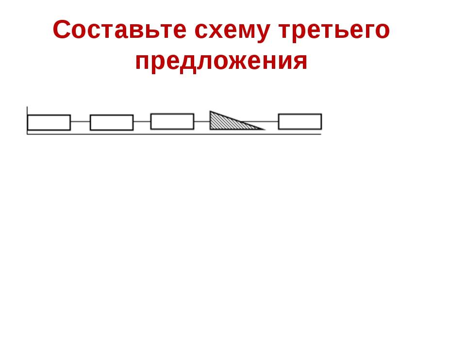 Составьте схему третьего предложения