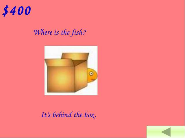 $100 Where is the fish? It's in the box.