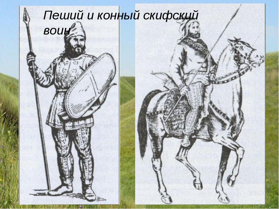 Пеший и конный скифский воин