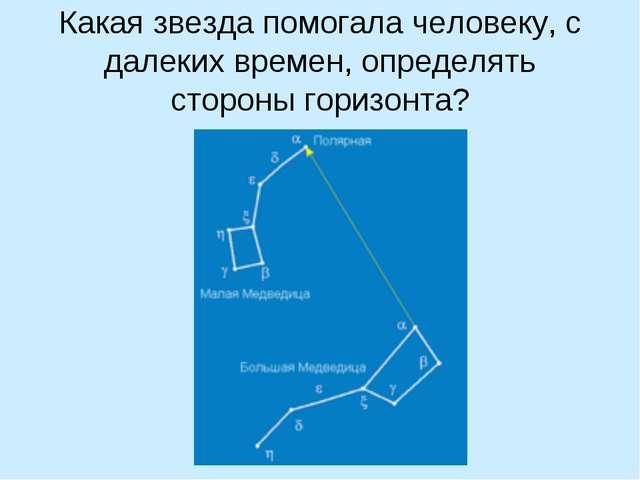 Какая звезда помогала человеку, с далеких времен, определять стороны горизонта?