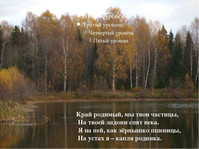 Край родимый, мы твои частицы, На твоей ладони спят века. Я на ней, как зёрн...