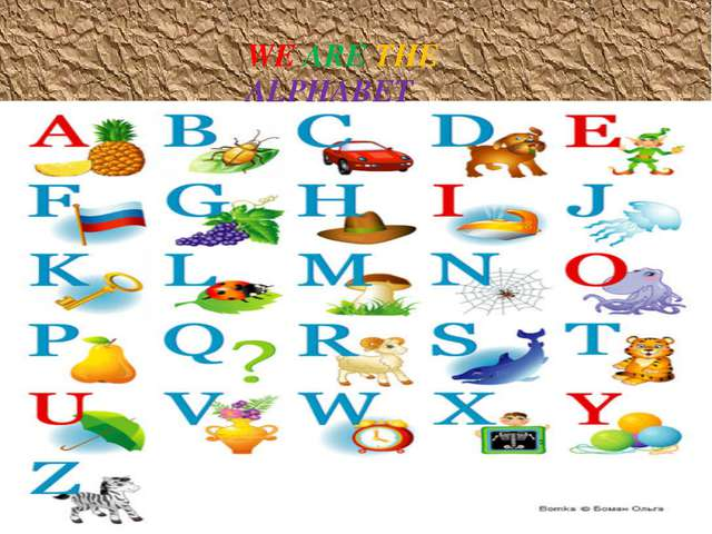 WE ARE THE ALPHABET WE ARE THE ALPHABET