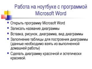 Работа на ноутбуке с программой Microsoft Word Открыть программу Microsoft Wo