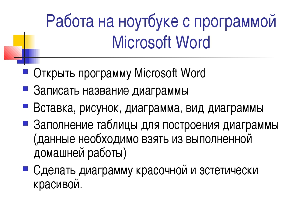 Работа на ноутбуке с программой Microsoft Word Открыть программу Microsoft Wo...