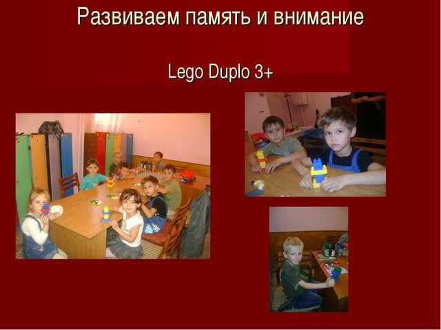 Развиваем память и внимание Lego Duplo 3+