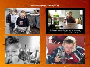 Неблагополучные семьи (3-5%)