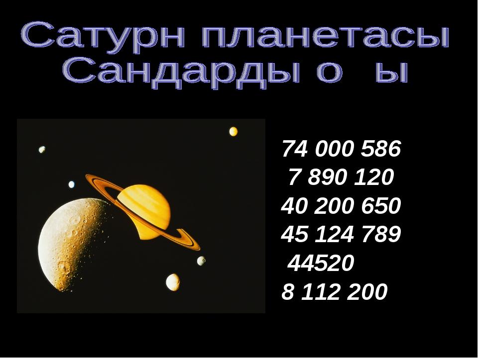 74 000 586 7 890 120 40 200 650 45 124 789 44520 8 112200