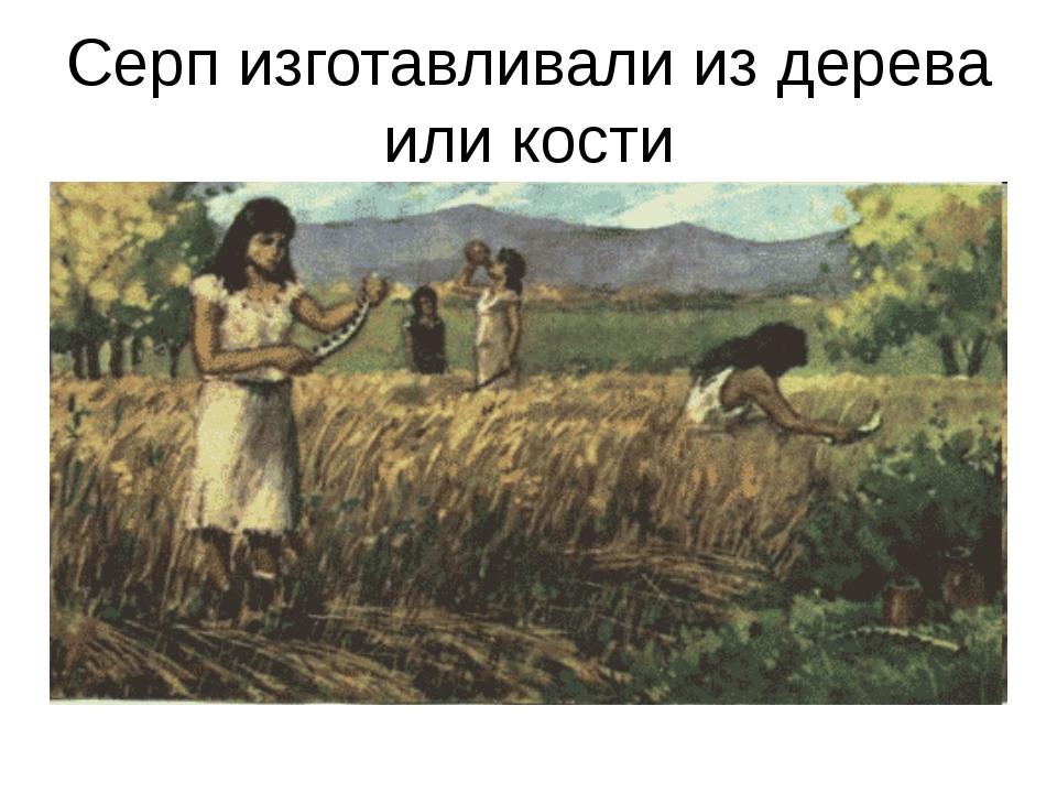 Серп изготавливали из дерева или кости