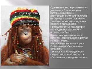 Одним из пионеров растаманского движения в России является группа «Джа Дивижн