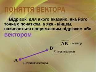 Відрізок, для якого вказано, яка його точка є початком, а яка - кінцем, назив