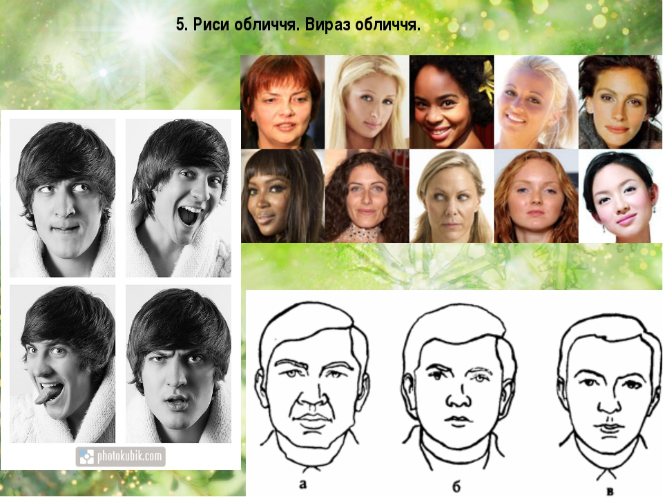 5. Риси обличчя. Вираз обличчя.
