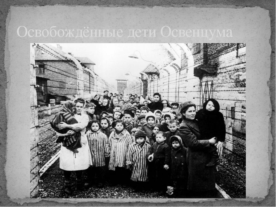 Освобождённые дети Освенцума