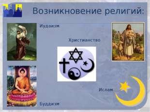 Возникновение религий: Иудаизм Христианство Ислам Буддизм