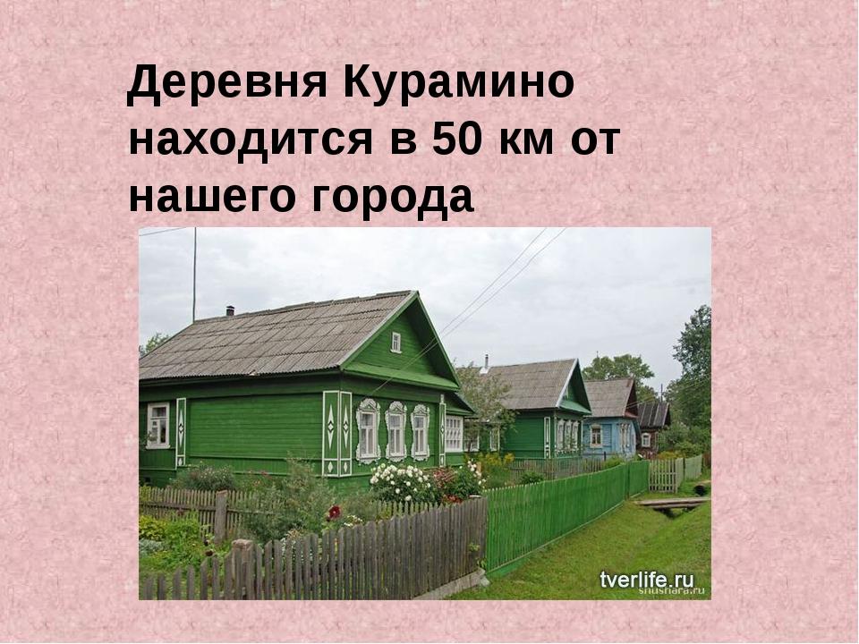Деревня Курамино находится в 50 км от нашего города