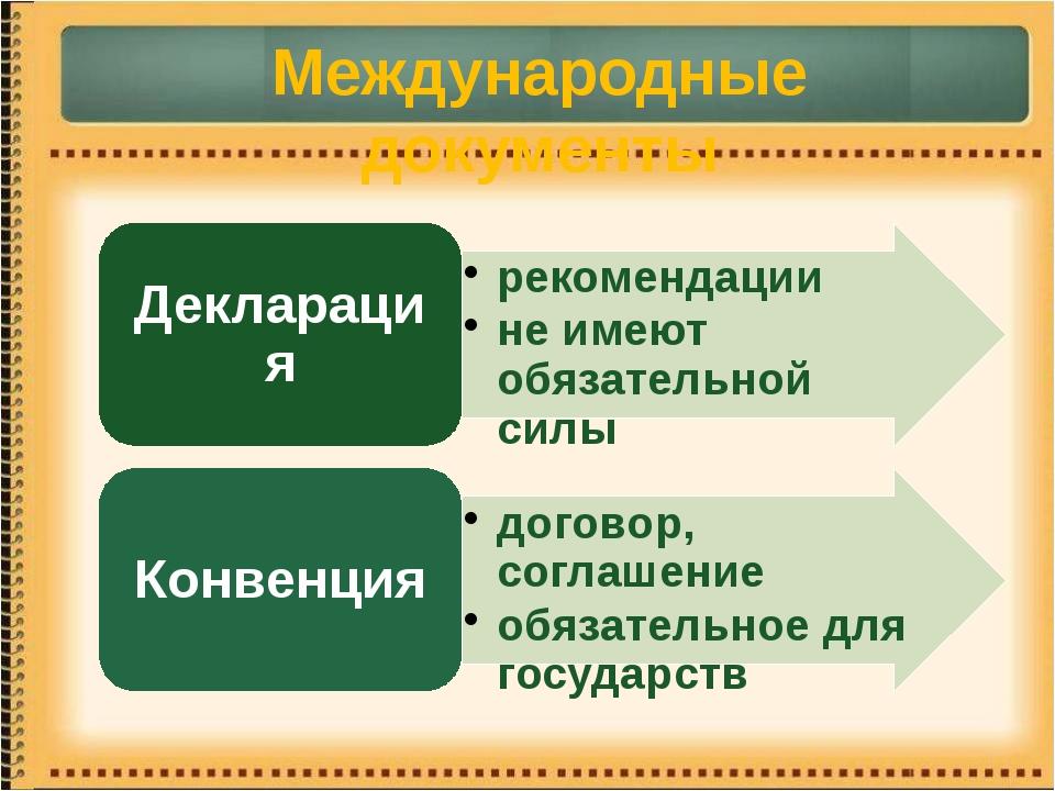 Международные документы