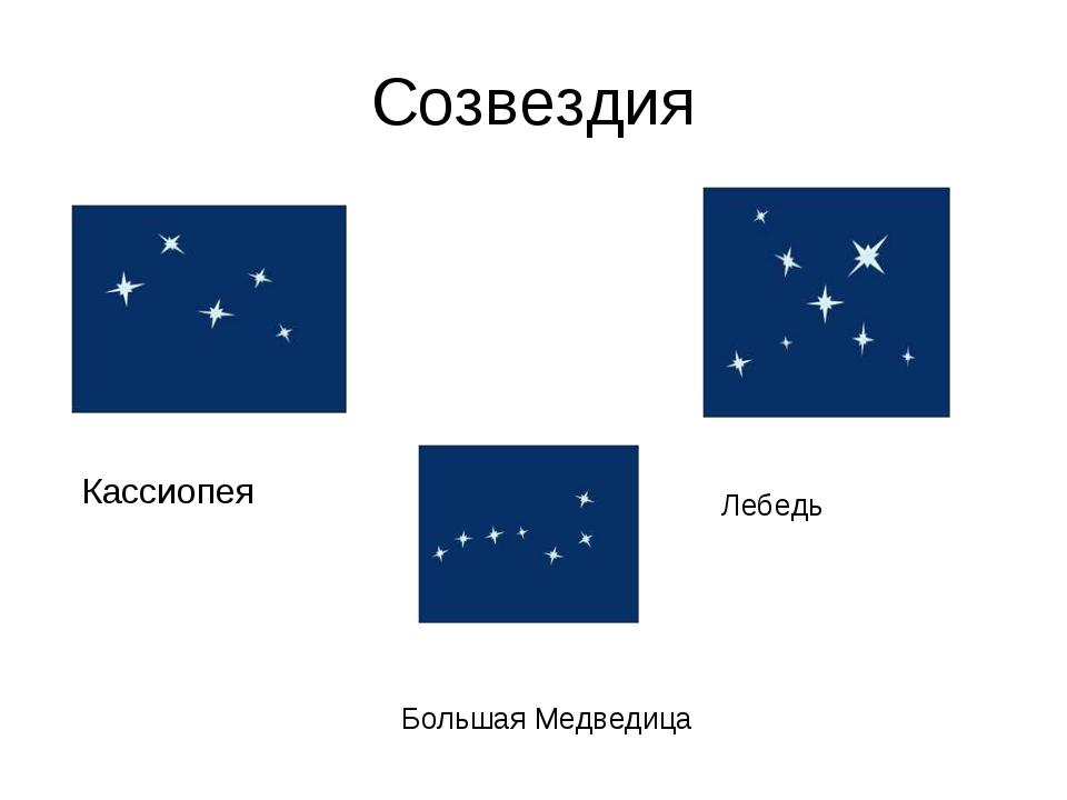 Созвездия Кассиопея Большая Медведица Лебедь