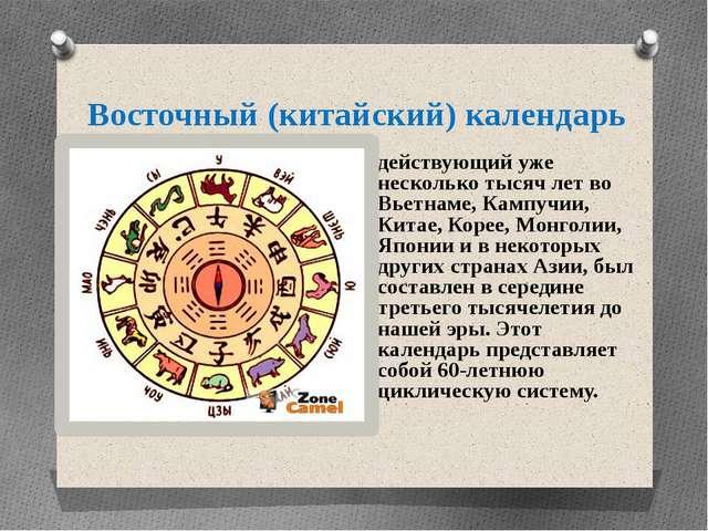 Восточный (китайский) календарь действующий уже несколько тысяч лет во Вьетна...