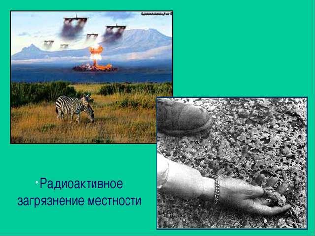 Радиоактивное загрязнение местности