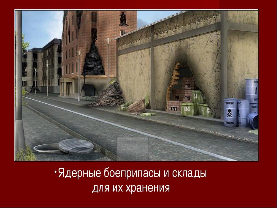 Ядерные боеприпасы и склады для их хранения