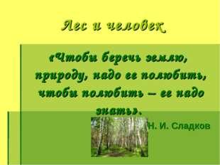 «Чтобы беречь землю, природу, надо ее полюбить, чтобы полюбить – ее надо зна
