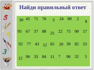 Найди правильный ответ 3 12 5 25 30 12 20 8 45717624892 95673788