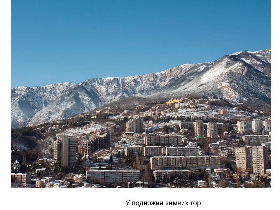 У подножия зимних гор