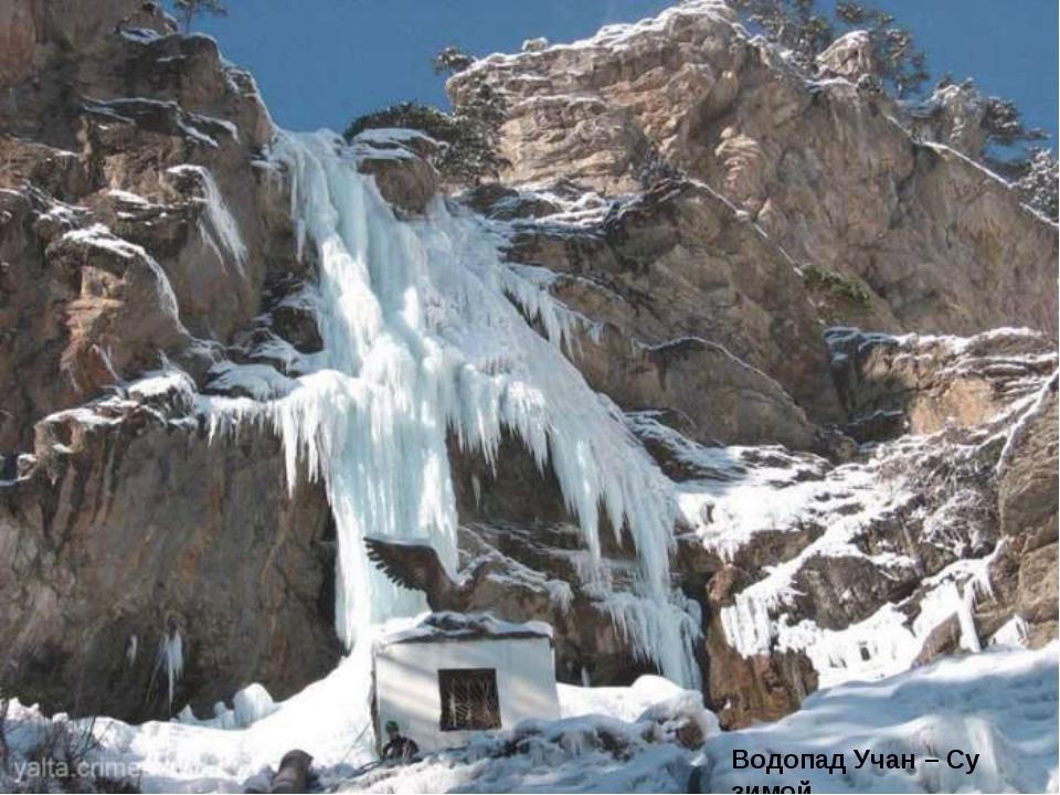 Водопад Учан – Су зимой