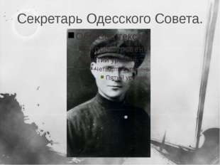 Секретарь Одесского Совета.