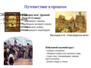 Путешествие в прошлое Васнецов А.М. «Новгородское вече» Народное вече Древней