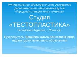 Муниципальное образовательное учреждение дополнительного образования детей «Г