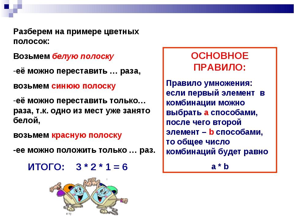 Разберем на примере цветных полосок: Возьмем белую полоску её можно перестави...