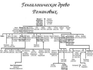 Генеалогическое древо Романовых.
