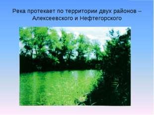 Река протекает по территории двух районов – Алексеевского и Нефтегорского