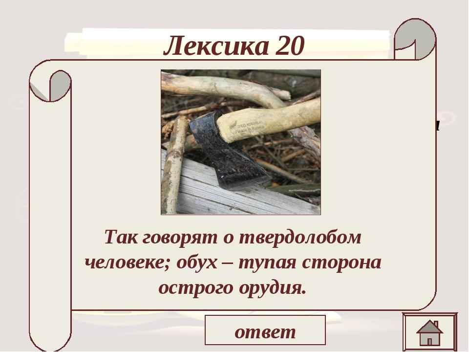 Лексика 20 «Не наше холопье дело разбирать барские воли, а , ей – богу, напра...