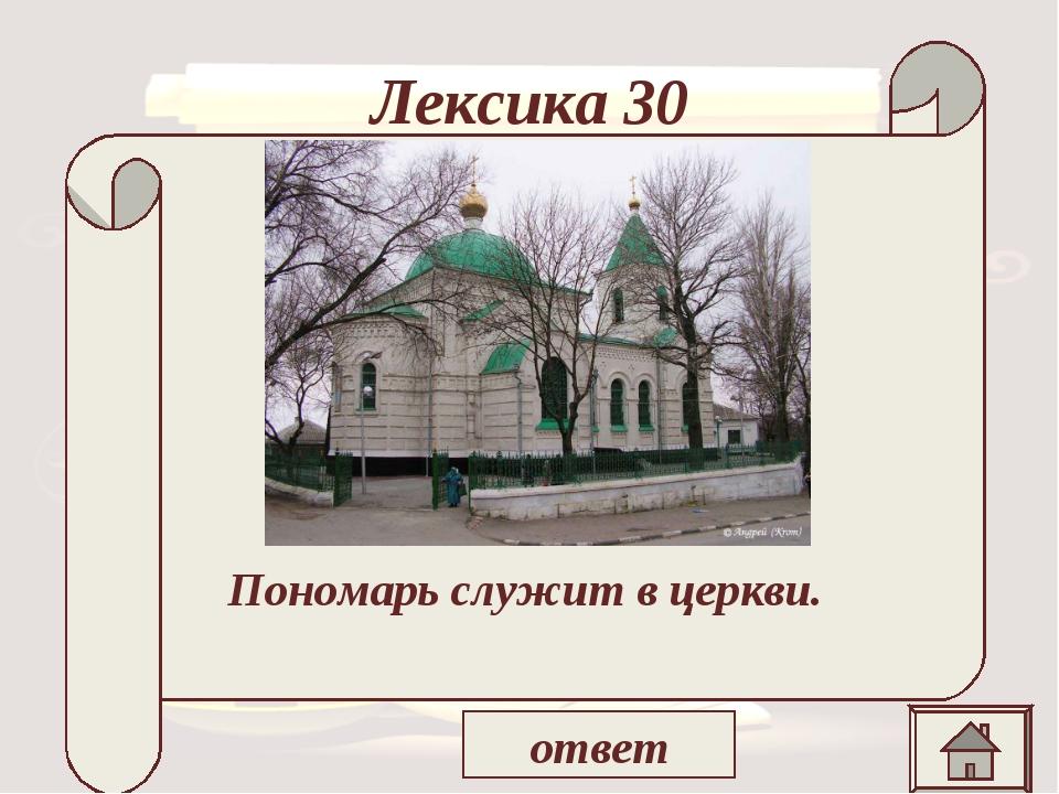 Лексика 30 « На днях покровский пономарь сказал на крестинах у нашего старост...