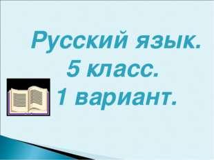 Русский язык. 5 класс. 1 вариант.