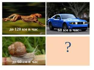 ? до 120 км в час 60 км в час до 60 см в час
