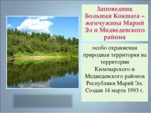особо охраняемая природная территория на территории Килемарского и Медведевск