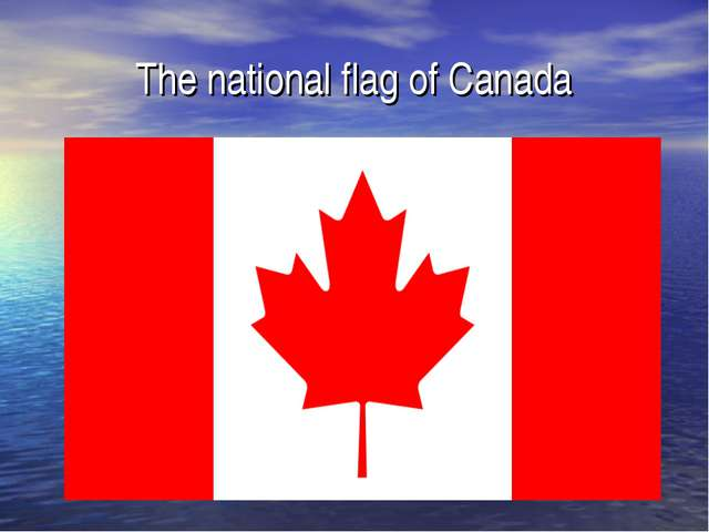 The national flag of Canada