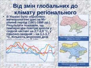 Від змін глобальних до клімату регіонального В Україні було оброблено метеоро