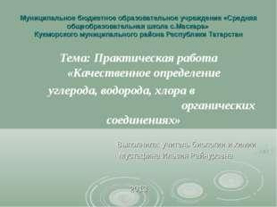 Муниципальное бюджетное образовательное учреждение «Средняя общеобразовательн