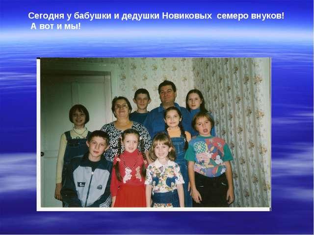 Сегодня у бабушки и дедушки Новиковых семеро внуков! А вот и мы!