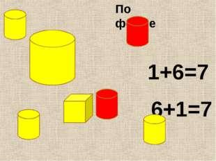 1+6=7 6+1=7 По форме
