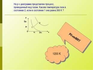 На p-v диаграмме представлен процесс, проведенный над газом. Какова температу