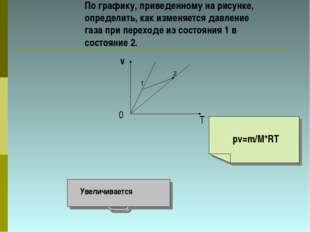 По графику, приведенному на рисунке, определить, как изменяется давление газа