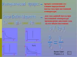 процесс изменения сос- тояния определённой массы газа при постоянной температ