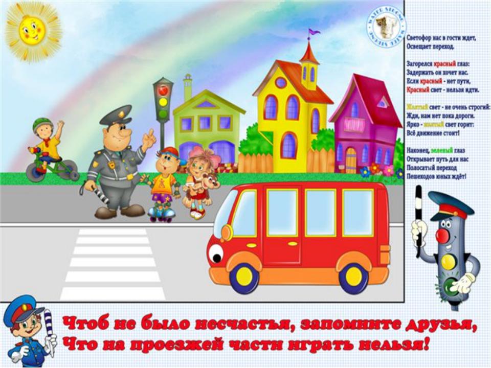 Плакаты по пдд для детского сада