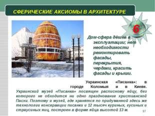 * СФЕРИЧЕСКИЕ АКСИОМЫ В АРХИТЕКТУРЕ 6 Дом-сфера дёшев в эксплуатации; нет нео